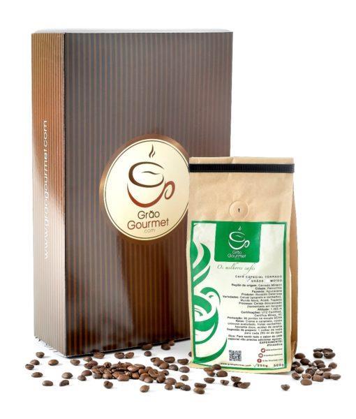 Caixa mensal do Grão Gourmet com Café Especial Torrado