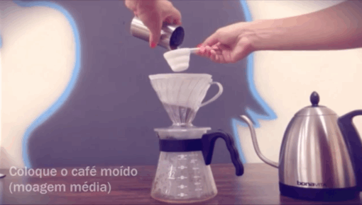 Vídeo de como fazer café no Hario V60