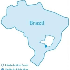Imagem do mapa do Sul de Minas