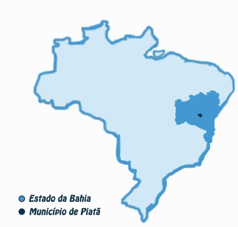 Imagem Mapa Piata BA