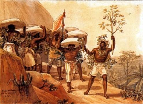 Comboio de café rumo à cidade (1826)