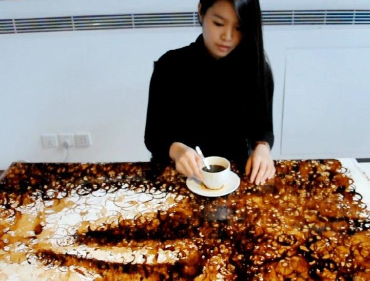 pintura café 1 Hong Yi
