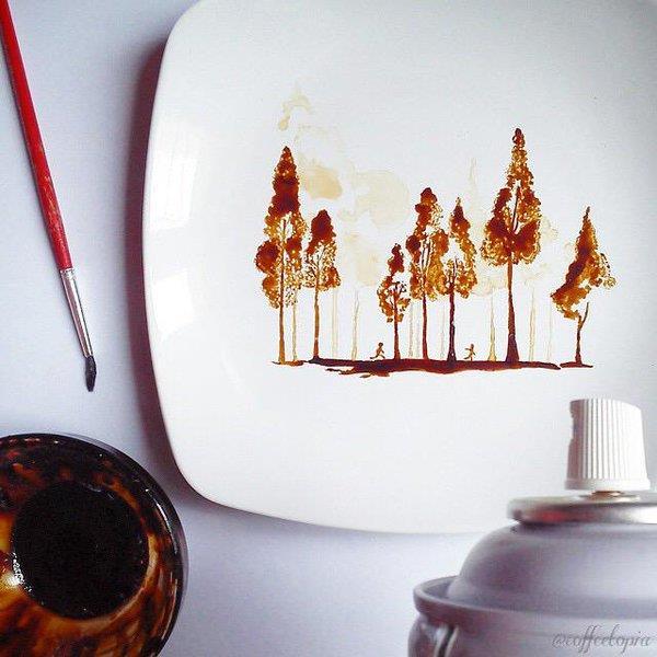 pintura com café 1 Nizar