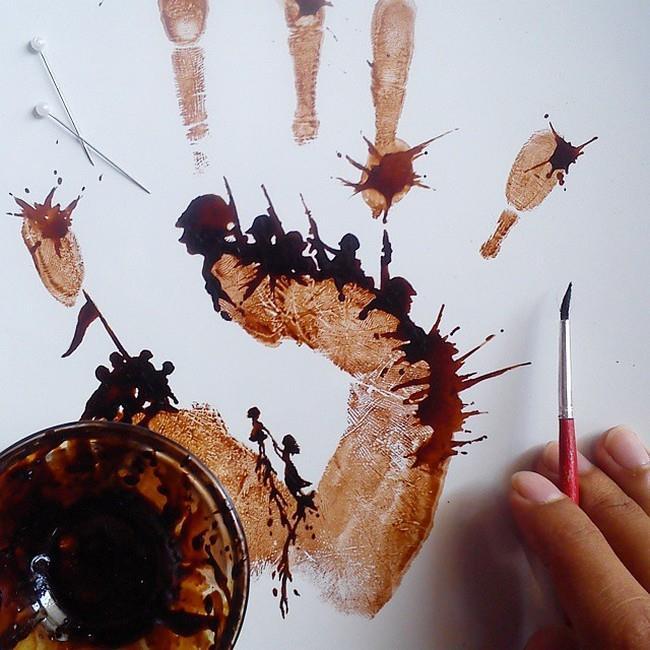 pintura com café 2 Nizar