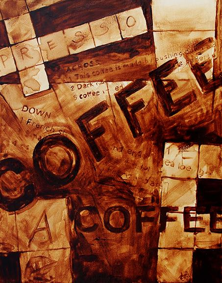 pintura com café Coffee Art 1