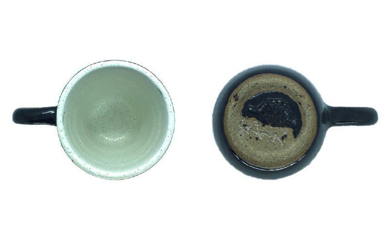 Caneca de ceramica interna e externa