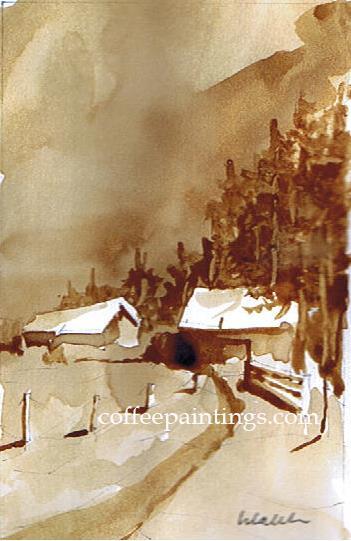pintura com café Caleb 2