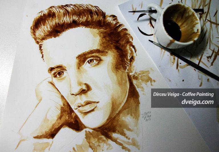 ilustração com café Dirceu Veiga