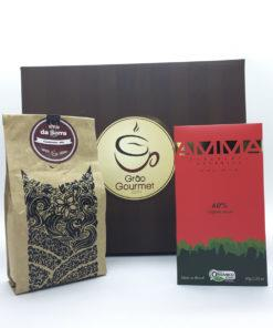 Kit Café + Chocolate AMMA Orgânico 60% cacau