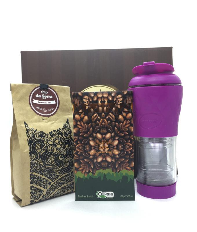 kit café + chocolate Qahwa + pressca