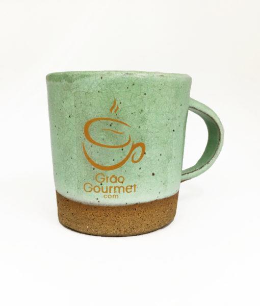 imagem caneca de cerâmica verde claro