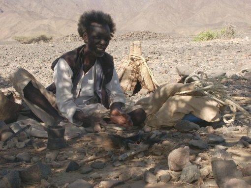 Homem da Tribo Beja Egito