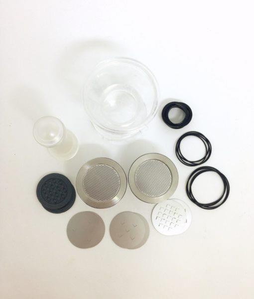 Waycap cápsula inox nespresso 2 acessórios vista cima