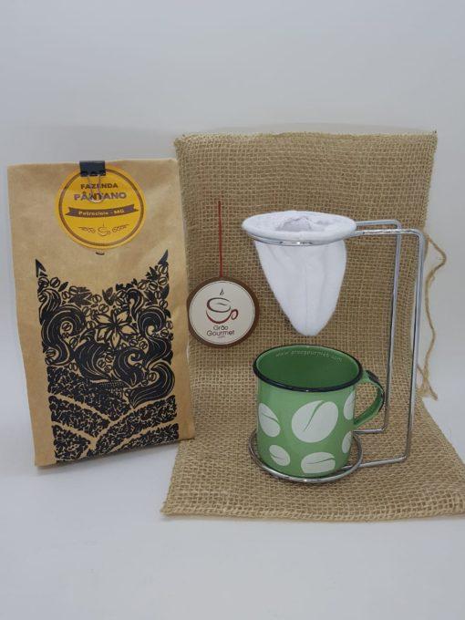 cafe pantano caneca verde e mini coador